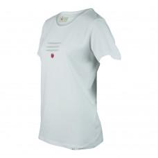 Yoga t-shirt Daya vit i ekologisk bomull unisex