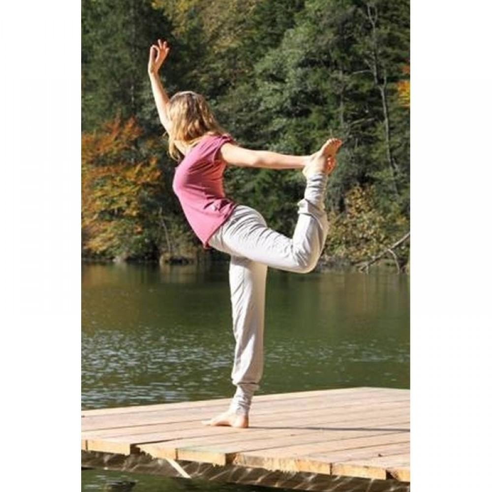 Yogabyxa Devata grå i ekologisk bomull för dam a63e388911443